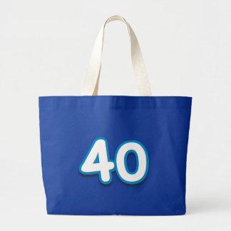 Cumpleaños o aniversario de 40 años - añada el tex bolsas