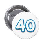 Cumpleaños o aniversario de 40 años - añada el tex pin