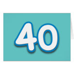 Cumpleaños o aniversario de 40 años - añada el tex felicitaciones