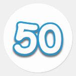 Cumpleaños o aniversario de 50 años - añada el etiquetas redondas