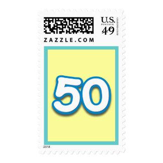 Cumpleaños o aniversario de 50 años - añada el sello