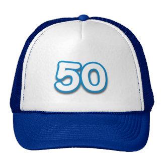 Cumpleaños o aniversario de 50 años - añada el tex gorros
