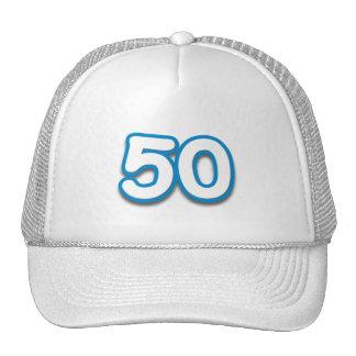 Cumpleaños o aniversario de 50 años - añada el tex gorros bordados