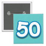 Cumpleaños o aniversario de 50 años - añada el tex pins