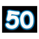 Cumpleaños o aniversario de 50 años - añada el tex postales