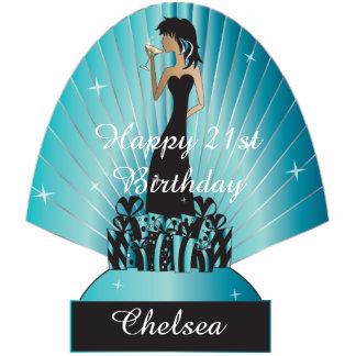 Cumpleaños o princesa Girl de la diva de Fotoescultura Vertical