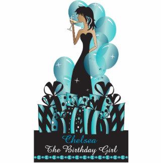 Cumpleaños o princesa Girl de la diva del fiesta Fotoescultura Vertical