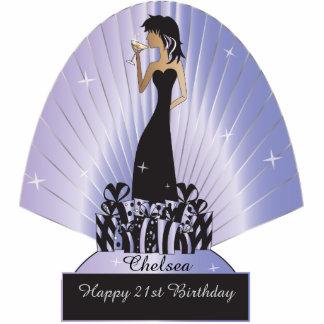 Cumpleaños o púrpura de la princesa el | de la fotoescultura vertical