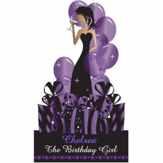 Cumpleaños o púrpura de la princesa el   de la fotoescultura vertical