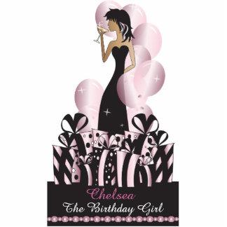Cumpleaños o rosa de la princesa el   de la diva fotoescultura vertical