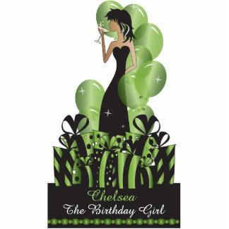 Cumpleaños o verde de la princesa el   de la diva fotoescultura vertical