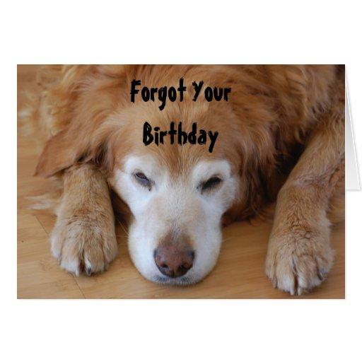 Cumpleaños - olvidó YourBirthday Tarjeta De Felicitación