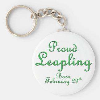 Cumpleaños orgulloso del año bisiesto de Leapling Llavero