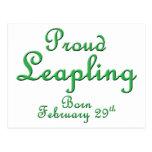 Cumpleaños orgulloso del año bisiesto de Leapling Postal