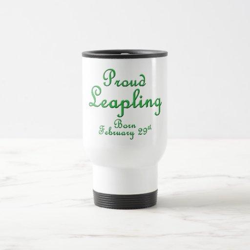 Cumpleaños orgulloso del año bisiesto de Leapling Taza De Café