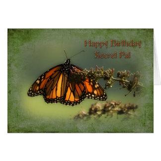 Cumpleaños - PAL secreto - mariposa Tarjeta De Felicitación