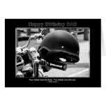 Cumpleaños - papá - casco del motorista - motocicl felicitación