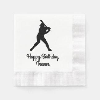 Cumpleaños para arriba personalizado del talud del servilleta de papel