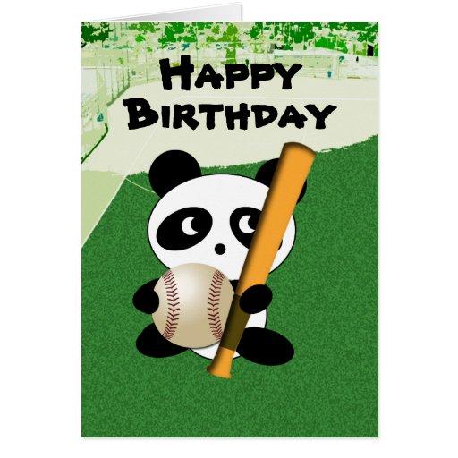 Cumpleaños para el aficionado al béisbol tarjetas