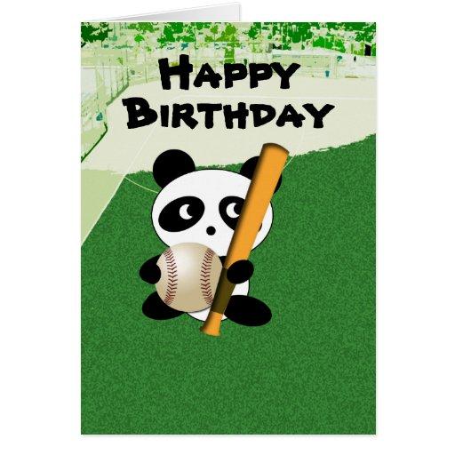 Cumpleaños para el aficionado al béisbol tarjetón