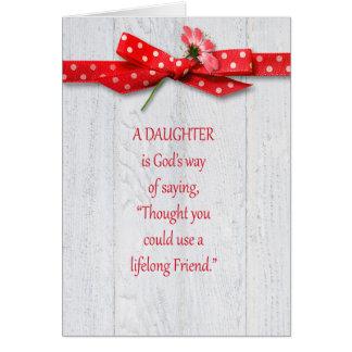 Cumpleaños para la hija tarjeta de felicitación