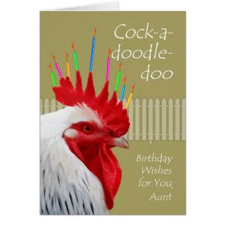 Cumpleaños para la tía, Gallo-uno-doodle-doo del Tarjeta De Felicitación