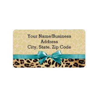 Cumpleaños para mujer de los chicas azules del etiquetas de dirección