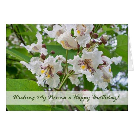 Cumpleaños para Nonna, flores de Catalpa Tarjeta De Felicitación