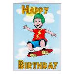 Cumpleaños patinador tarjetas