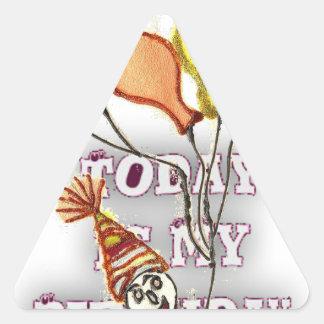 Cumpleaños Pegatina Triangular