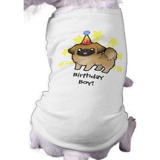 Cumpleaños Pekingese (perrito cortado) Ropa Macota