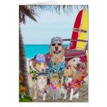 Cumpleaños perros/del Hawaiian/de la persona que p Tarjeton