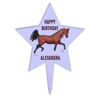 Cumpleaños personalizado caballo árabe de la bahía decoraciones de tartas