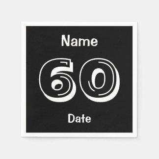 Cumpleaños personalizado del fiesta de 60 años servilletas de papel