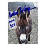 Cumpleaños-personalizar del burro él tarjeton
