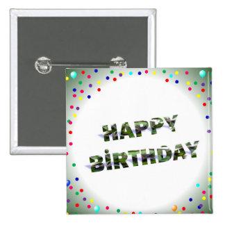 Cumpleaños Pin Cuadrado