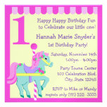Cumpleaños pintado del potro invitacion personalizada