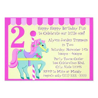 Cumpleaños pintado del potro invitación 12,7 x 17,8 cm