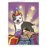 Cumpleaños Pitbull/Staffordshire Terrier americano Tarjeta De Felicitación