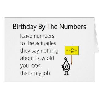 Cumpleaños por los números - un poema divertido de felicitacion