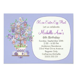 """Cumpleaños precioso de pascua domingo de la invitación 4.5"""" x 6.25"""""""
