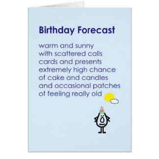 Cumpleaños previsto - un poema divertido del tarjeta de felicitación