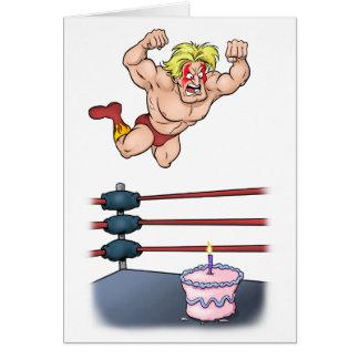 Cumpleaños profesional de Slammin del luchador Tarjeta De Felicitación