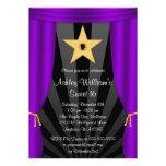 Cumpleaños púrpura del dulce 16 de las cortinas de