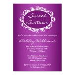 Cumpleaños púrpura del dulce 16 del marco del anuncio personalizado