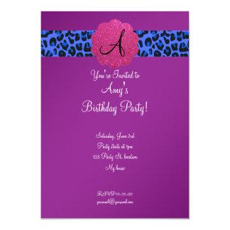 Cumpleaños púrpura del monograma anuncios