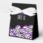 Cumpleaños púrpura Favorbox del dulce 16 del coraz Paquetes De Regalo
