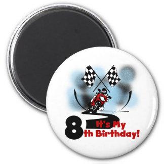 Cumpleaños que compite con de la motocicleta 8vo iman
