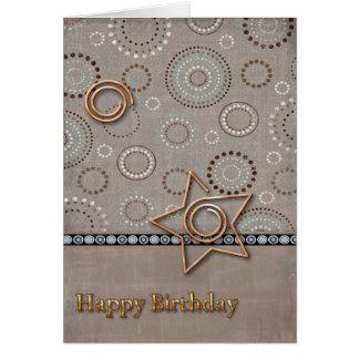 Cumpleaños radial radical tarjeta de felicitación