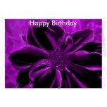 cumpleaños real, feliz púrpura tarjetas